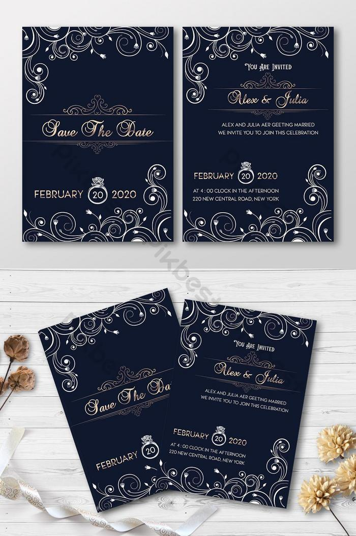 Wedding Invitation Template Psd Free Download Pikbest
