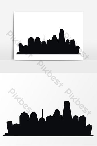 卡通7 1世界建築日建築輪廓手繪元素 元素 模板 PSD