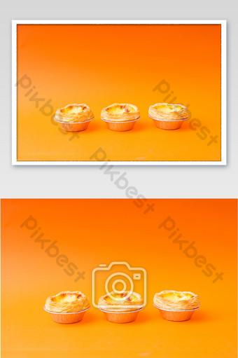 Tarte aux oeufs gastronomique cuisson délicieuse carte de photographie de pâtisserie occidentale La photographie Modèle JPG