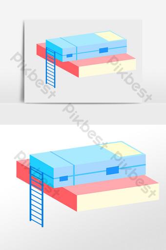 手繪教育學習文具盒書本插畫 模板 PSD