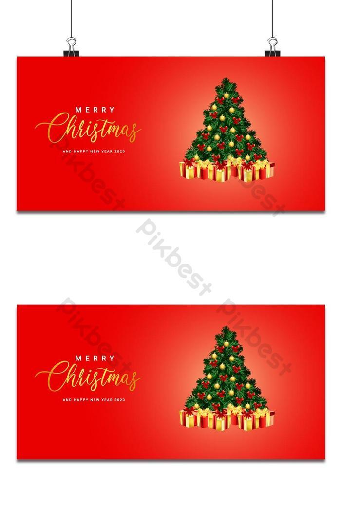 Beau Noël avec décoration dorée Vector | AI Fond Gratuit - Pikbest
