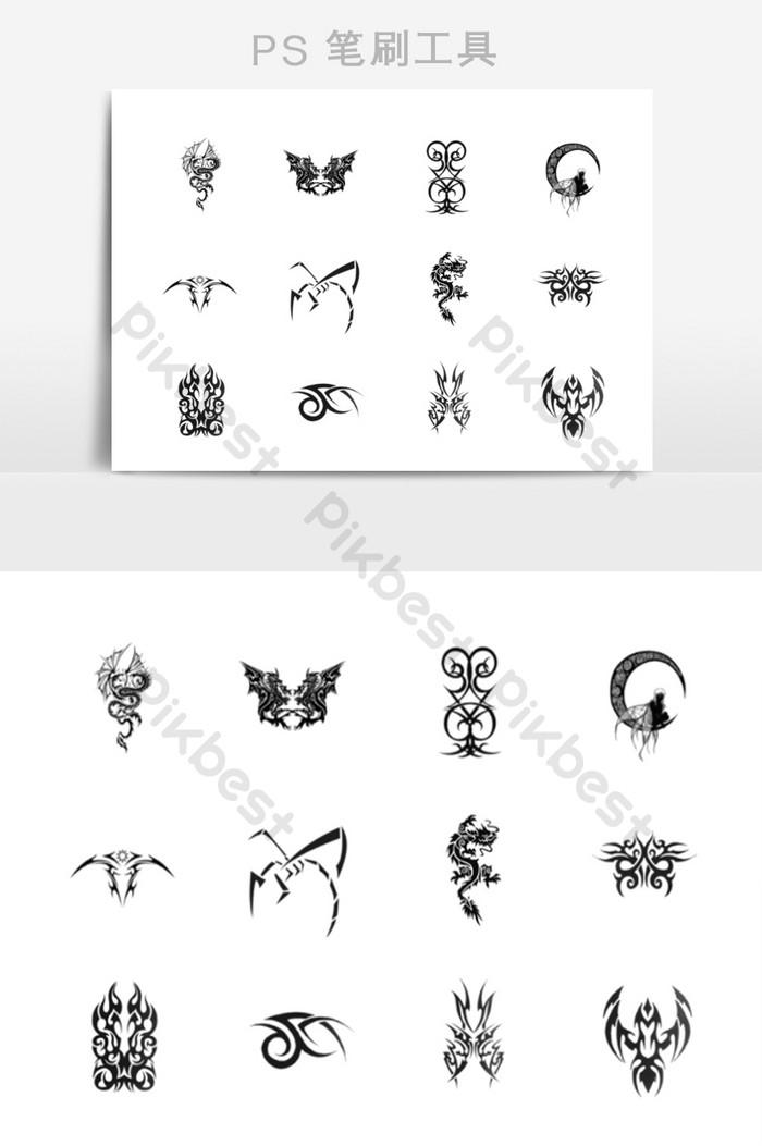 Art Tattoo Tattoo Pattern Brush Template Free Download
