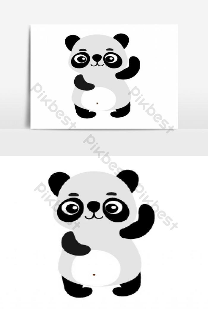Vecteur De Dessin Animé Mignon Panda Ai éléments