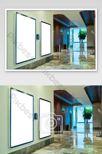 صورة للإعلان الفارغ في مركز تسوق قاعة المصعد التصوير قالب JPG