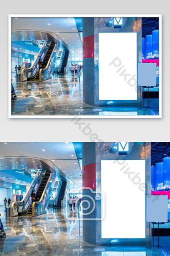 أدى عمود مركز التسوق شاشة فارغة لوحة صورة التصوير قالب JPG
