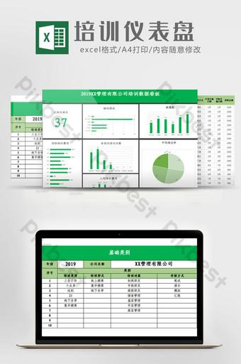 Modèle Excel du système de tableau de bord des données de formation Excel模板 Modèle XLS