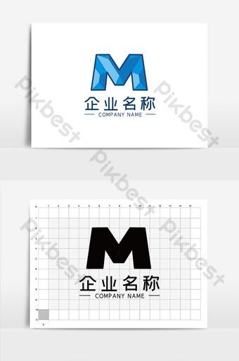 plantilla de logotipo universal de negocios en forma de m simple y elegante Modelo CDR
