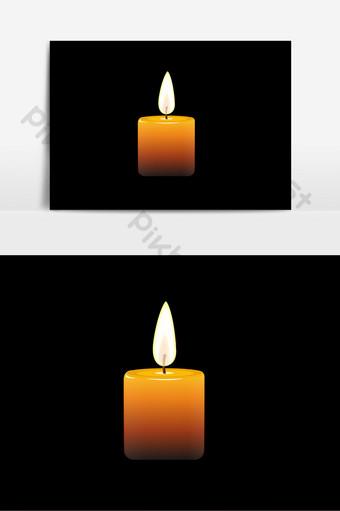 彩色三維紋理逼真的救災祈禱蠟燭元素 元素 模板 AI