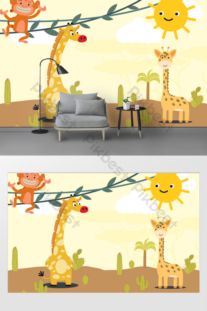 770+ Gambar Animasi Hewan Jerapah HD Terbaru