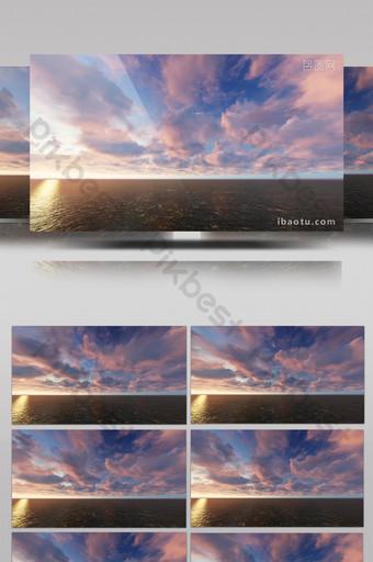 viento tembloroso cielo nubes revoloteando puesta de sol amanecer Vídeo Modelo AEP