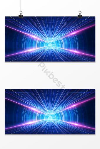 Blue business glare technology speed sense horizontal version background Backgrounds Template PSD