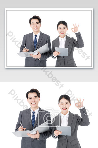 Business men and women sales service customers Photo Template JPG