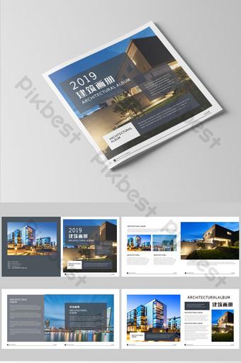 set lengkap brosur gambar arsitektur gaya Templat CDR