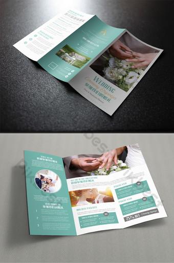 高端簡約時尚歐式婚禮三摺頁 模板 PSD