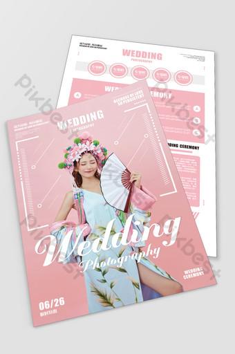 Wedding Photo Studio Flyer Series Fashion Style Template CDR