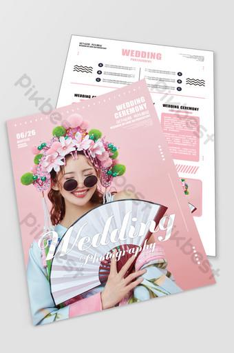 Fashion Wedding Photo Studio Flyer Series Template CDR