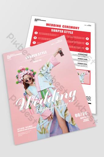 Wedding Photo Studio FlyerWedding Series Flyer Template CDR