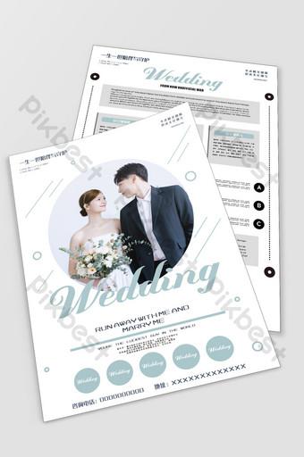 Wedding photo studio flyer wedding series fashion Template CDR
