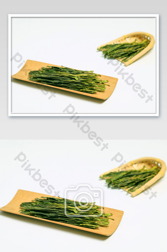الشاي المصنوع يدويًا taiping houkui أخضر أبيض صورة تصوير عالية الدقة التصوير قالب JPG