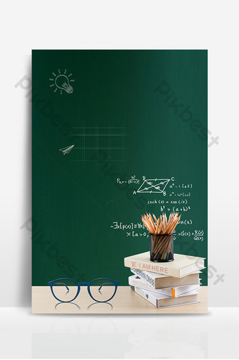 Jour de l'enseignant simple 9 10 fond de podium tableau noir Fond Modèle PSD