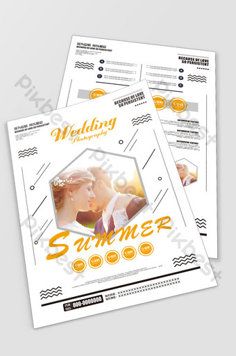 Wedding posters, photo studio flyers, wedding series promotion Template CDR