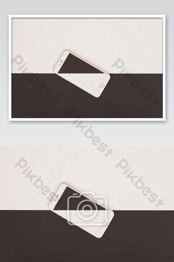 أبيض وأسود لونين جميل الهاتف المحمول صور عالية الدقة التصوير قالب JPG