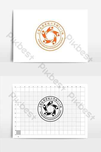 escuela de moda logo diseño vi Modelo CDR