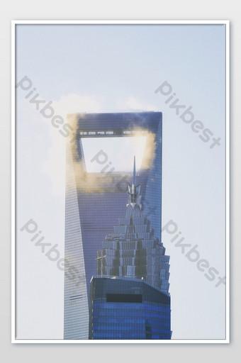 شنغهاي المركز المالي العالمي xiangyun الصورة التصوير قالب JPG