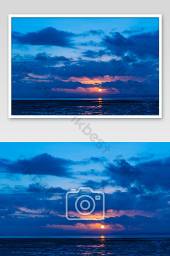 Philippines sunset travel beach vacation photography sea map Photo Template JPG
