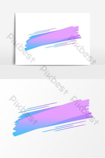 漸變標題邊框裝飾元素 元素 模板 PSD