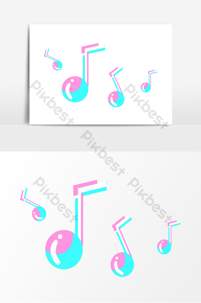 cartoon music symbol tide color element png images psd free download pikbest pikbest