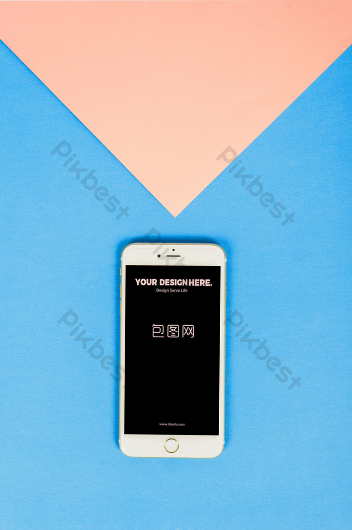 Color matching creative mobile app poster mockup | template PSD Free