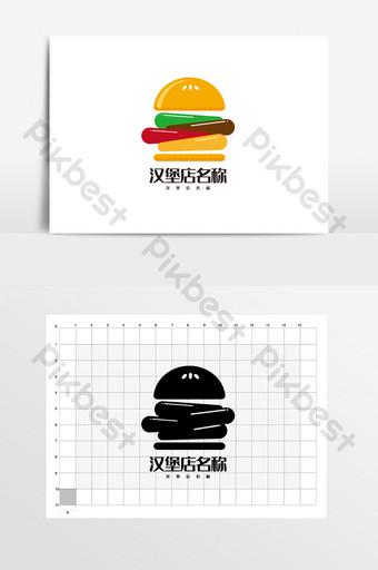 hamburguesa restaurante de comida rápida papas fritas logo vi Modelo AI
