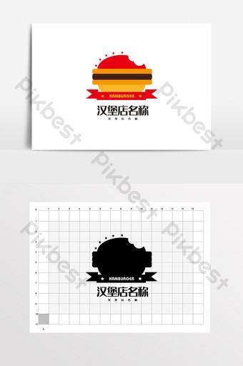 hamburguesa comida rápida catering logo vi Modelo AI