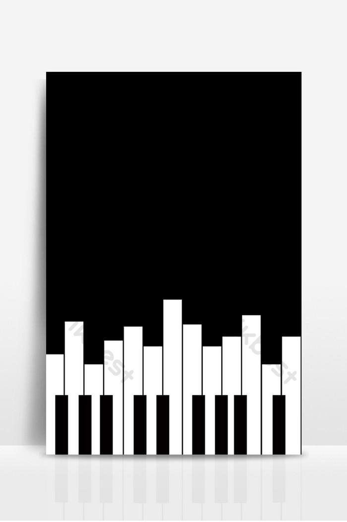 بيانو بسيط أبيض وأسود خلفية الموسيقى الخلفية خلفيات Psd تحميل مجاني Pikbest