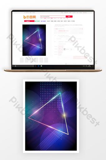 Tono púrpura tecnología geométrica sentido imagen principal fondo muestra de máquina Fondos Modelo PSD