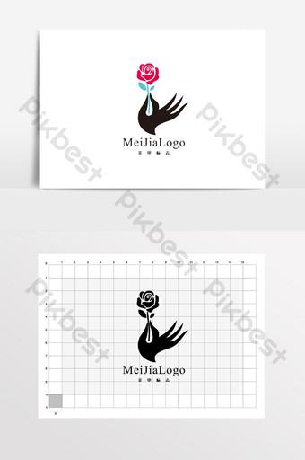 Nail Flower Shop Kem Tay Logo VI Bản mẫu CDR