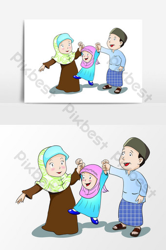 Muslim People Give Donation Illustration Png Images Ai Free Download Pikbest