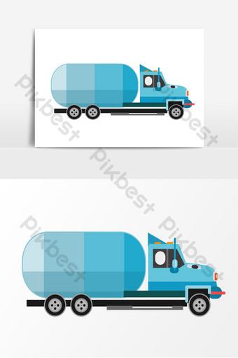 卡通貨運物流卡車運輸元素 元素 模板 PSD