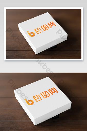 Muestra de caja de regalo de piso de madera de grano de madera simple maqueta de cuero de papel duro Modelo PSD