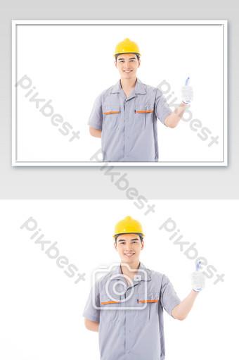 Service like after-sales maintenance engineer Photo Template JPG