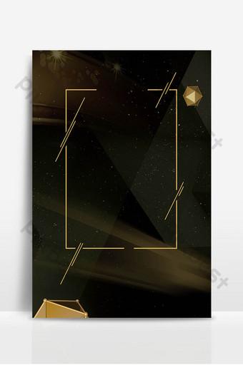 金色幾何邊框商務企業背景設計 背景 模板 PSD