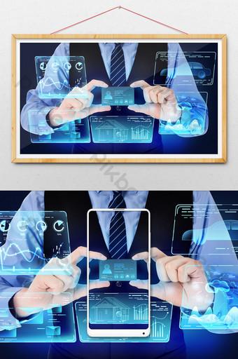 Carte d'identité Smart Data à l'ère de la 5G Illustration Modèle PSD