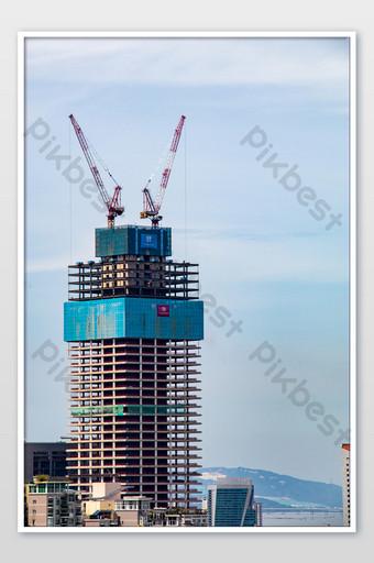 صور المباني الشاهقة في منطقة شنتشن الاقتصادية الخاصة التصوير قالب JPG