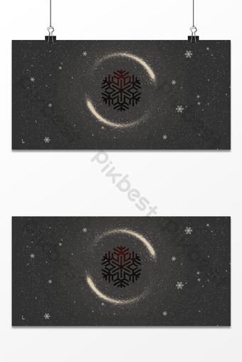 fondo de tablero de pantalla de caída de nieve de estilo de gama alta negro Fondos Modelo PSD