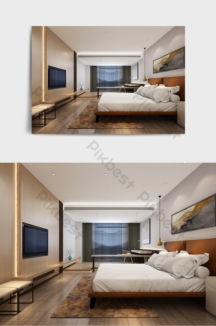 Modern Bedroom 3d Max Model Interior Renderings Decors 3d Models Max Free Download Pikbest