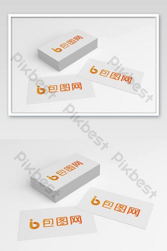 نموذج بطاقة مكتب العمل الأبيض قالب PSD