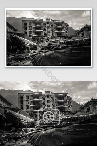 汶川512地震北川遺址圖片 攝影圖 模板 JPG