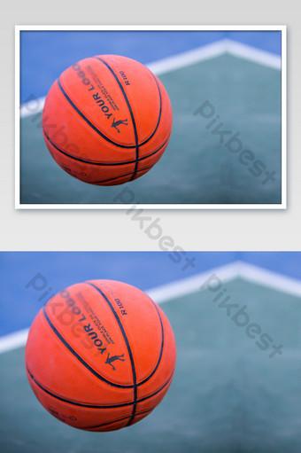 baloncesto rojo de cerca patrón de impresión textura logo maqueta Modelo PSD