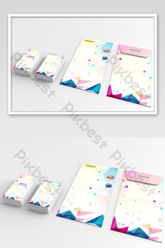 Modèle de maquette de papier pour carte enveloppe Modèle PSD